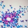 Паперові метелики на стіну - ідея для інтер`єру