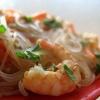 Фунчоза з креветками і овочами, рецепт приготування страви