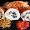 Курячі грудки фаршировані грибами з цибулею і сиром