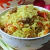 Курячі шлунки з рисом - покроковий рецепт