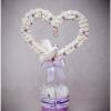 Майстер клас: весільний топиарий своїми руками з тканинних квітів, атласних стрічок, кавових зерен у формі серця з докладними фото і відео