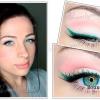 Ніжний повсякденний макіяж для блакитних очей