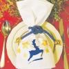 Новорічна серветка - прикраса для святкового столу