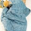 Плед спицями для новонародженого, для дитячої коляски, дорослий варіант з квадратів