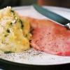 Свинина з м`ятим картоплею