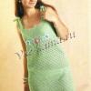 В`язане плаття спицями зі схемами та описом роботи, а також опис роботи з виготовлення сукні гачком (приклади робіт з фотографіями)