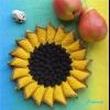 В`язані гачком прихватки: круглі, квадратні, у вигляді ягідки і квітки - зі схемами та описом, фото і відео-уроками