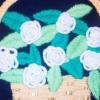 Вишиваємо об`ємні троянди вовняними нитками