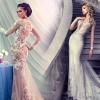 Довгі й короткі весільні сукні з рукавами фото