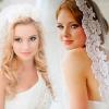 Красиві весільні зачіски з фатою