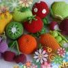 В`язані овочі та фрукти гачком схеми в`язання